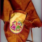 Cree moccasin, embroidered with fine thread.