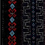 Belts made of seed beads by the Swampy Cree of York Factory area, circa 1915.